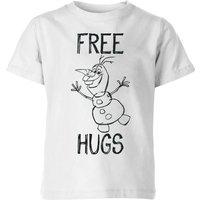Disney Frozen Olaf Free Hugs Kids' T-Shirt - White - 11-12 Years - White - Kids Gifts