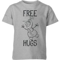 Disney Frozen Olaf Free Hugs Kids' T-Shirt - Grey - 11-12 Years