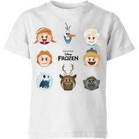 Disney Frozen Emoji Heads Kids' T-Shirt - White - 9-10 Years - White