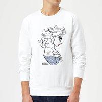 Disney Frozen Elsa Sketch Strong Sweatshirt - White - S - White