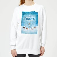 Disney Frozen Snow Poster Women's Sweatshirt - White - XL - White