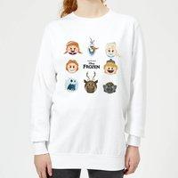 Disney Frozen Emoji Heads Women's Sweatshirt - White - XS - White