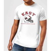 East Mississippi Community College Helmet Men's T-Shirt - White - XXL - White