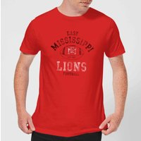 East Mississippi Community College Lions Football Distressed Men's T-Shirt - Red - L - Red