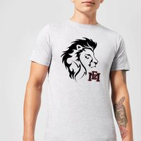 East Mississippi Community College Lion Head and Logo Men's T-Shirt - Grey - L - Grey