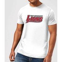 East Mississippi Community College Lions Script Logo Men's T-Shirt - White - XL - White