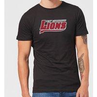 East Mississippi Community College Lions Script Logo Men's T-Shirt - Black - S - Black