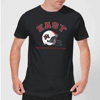 East Mississippi Community College Helmet Men's T-Shirt - Black - XXL - Black
