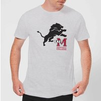 East Mississippi Community College Lion and Logo Mens T-Shirt - Grey - 4XL - Grey