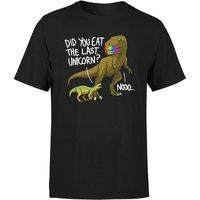Dinosaur Unicorn Mens T-Shirt - Black - XL - Black