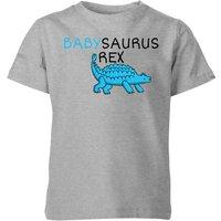 Babysaurus Rex Kids' T-Shirt - Grey - 5-6 Years - Grey