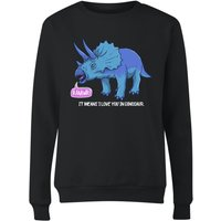 Rawr It Means I Love You In Dinosaur Women's Sweatshirt - Black - XXL - Black - Black Gifts