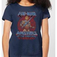 He-Man Distressed Women's T-Shirt - Navy - XXL - Navy - Navy Gifts
