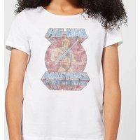 He-Man Faded Women's T-Shirt - White - 4XL - White