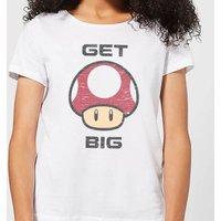 Nintendo Super Mario Get Big Mushroom Women's T-Shirt - White - XXL - White