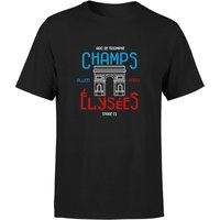 Champs Elysees Men's T-Shirt - Black - XXL - Black