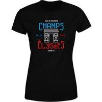 Champs Elysees Women's T-Shirt - Black - L - Black