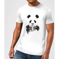 Balazs Solti Skull Panda Mens T-Shirt - White - M - White