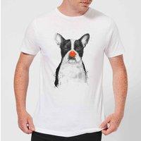 Balazs Solti Red Nosed Bulldog Men's T-Shirt - White - S - White