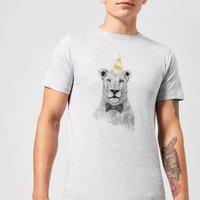 Balazs Solti Party Lion Men's T-Shirt - Grey - 3XL - Grey