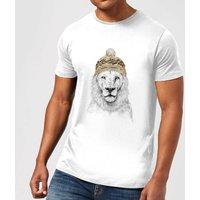 Balazs Solti Lion With Hat Mens T-Shirt - White - XXL - White