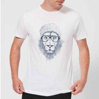 Balazs Solti Lion Men's T-Shirt - White - S - White