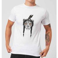 Balazs Solti Native Lion Mens T-Shirt - White - 5XL - White