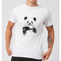 Balazs Solti Moustache And Panda Men's T-Shirt - White - 5XL - White