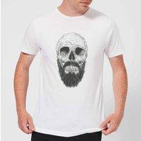Balazs Solti Bearded Skull Men's T-Shirt - White - XS - White