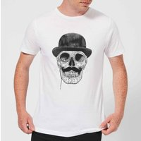 Balazs Solti Monocle Skull Men's T-Shirt - White - 3XL - White