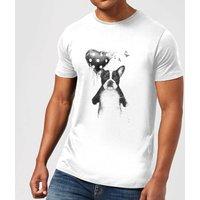 Balazs Solti Bulldog And Balloon Mens T-Shirt - White - 3XL - White