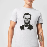 Balazs Solti Suited And Booted Skull Mens T-Shirt - Grey - S - Grey