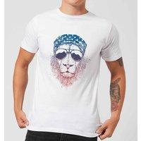 Balazs Solti Bandana Lion Mens T-Shirt - White - 5XL - White