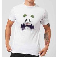 Balazs Solti Joker Panda Mens T-Shirt - White - S - White