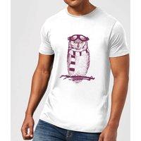 Balazs Solti Winter Owl Mens T-Shirt - White - 5XL - White