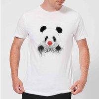 Balazs Solti Red Nosed Panda Men's T-Shirt - White - 5XL - White