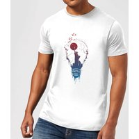 Balazs Solti NYC Moon Mens T-Shirt - White - 3XL - White