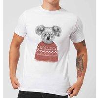 Balazs Solti Koala And Jumper Mens T-Shirt - White - L - White