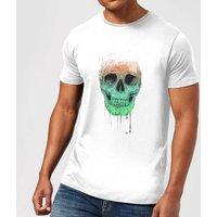 Balazs Solti Skull Men's T-Shirt - White - 4XL - White