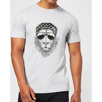 Balazs Solti Bandana Lion Mens T-Shirt - Grey - 4XL - Grey