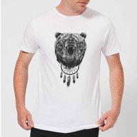 Balazs Solti Dreamcatcher Bear Men's T-Shirt - White - XS - White