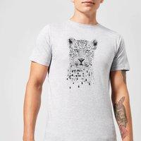 Balazs Solti Leopard Men's T-Shirt - Grey - XS - Grey