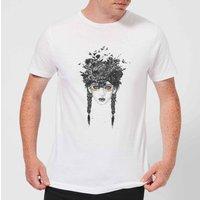 Balazs Solti Native Girl Mens T-Shirt - White - 4XL - White