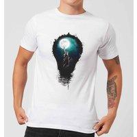 Balazs Solti NYC Moon Mens T-Shirt - White - 4XL - White