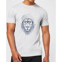 Balazs Solti Lion Mens T-Shirt - Grey - 5XL - Grey