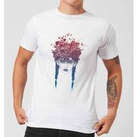 Balazs Solti Native Girl Mens T-Shirt - White - 5XL - White