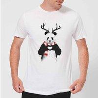 Balazs Solti Winter Panda Mens T-Shirt - White - 5XL - White