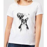 Balazs Solti Bulldog And Balloon Women's T-Shirt - White - 4XL - White