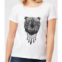 Balazs Solti Dreamcatcher Bear Women's T-Shirt - White - S - White