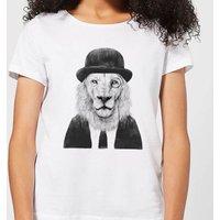Balazs Solti Monocle Lion Women's T-Shirt - White - M - White